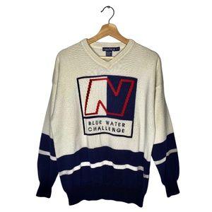 Vintage 90s Nautica Blue water Challenge Sweater